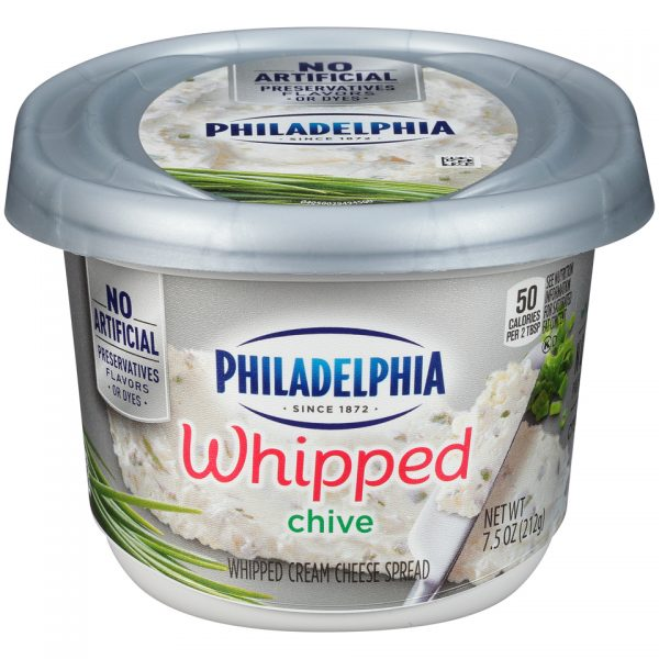 PHILADELPHIA CREAM CHEESE WHIPPED CHIVES