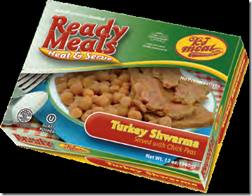 KJ READY MEAL TURKEY SCHWARMA